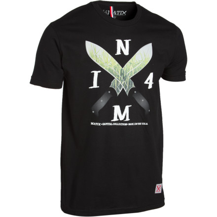 Part of the Matix Capital Collection, the IN4M Machete T-Shirt is made right here in the USA with super-soft premium cotton fabric. - $16.47
