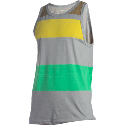 Surf The Matix Lines Premium Tank Top features bold color-blocking and a super-clean silhouette devoid of logo banners or gimmicks. - $15.28