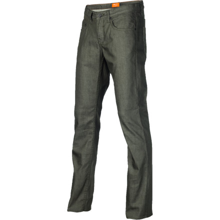 Skateboard If you feel like your regular jeans are holding you back, check out the Matix MJ Signature Tri-Blend Men's Denim Pant. The denim is woven from a blend of cotton, polyester, and spandex for crazy amounts of stretch so you can have the slim fit you love without compromising your ability to skate. - $41.37