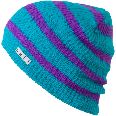 Entertainment Wear the Neff Daily Stripe Beanie every day. This rib knit acrylic hat features timeless, no frills styling so it looks good no matter what youre wearing and doesnt get old after repeated wears. - $17.95
