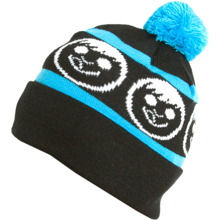 Skateboard The Neff Standard Pom Beanie has one ball, which makes you twice the man it could ever be. - $14.37
