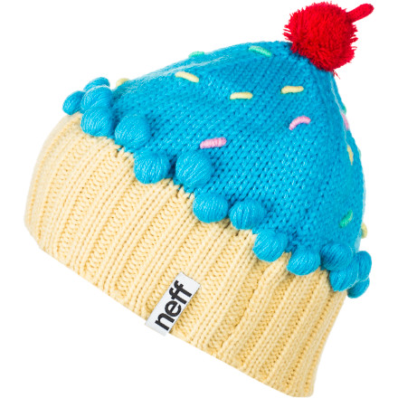 Skateboard For years youve know that a cupcake is a bakers gift to your sweet tooth, and now the Neff Womens Cupcake Beanie proves that it isnt just appetites that benefit from this delectable confectionery. Highly sought after, and deliciously warm, the Neff Cupcake Beanie is cherry on the top of your winter outfit. - $27.95