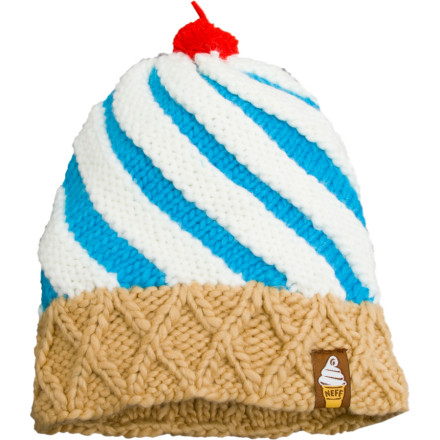 Skateboard Lick it, swirl it, dip it, just dont stuff it in your mouth. The Cone Beanie by Neff is a tasty treat for your head. Wear this hat and induce mouth-watering whip-cream-covered fantasies in the minds of everyone who sees you. - $16.77