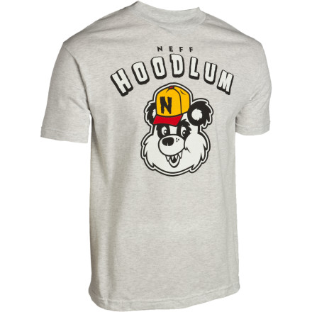 Skateboard Deep in the jungles, there are ghettos populated by misunderstood marsupials, much like the panda featured on the Neff Hoodlum T-Shirt. - $13.17