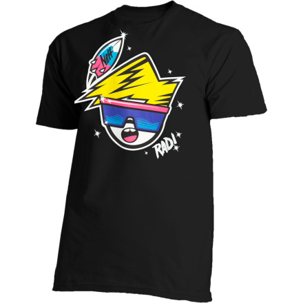 Skateboard The Neff Rad Short-Sleeve T-Shirt and that key word 'rad' pretty much cover everything from your badass attitude to your nipples. - $13.17