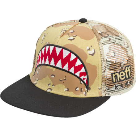 Skateboard Buy the Neff Thunderbolt Trucker Hat if you have aspirations of being a trucker. That is, a monster truck driver. - $10.78