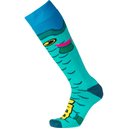 Snowboard The Neff Hooked Socks fit swimmingly. They're stuffed to the gills with awesome. Your feet will be in a sea of comfort. We could keep going with the fish puns, but we don't want to blow your mind too much in just one sitting. - $13.97
