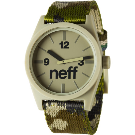 Entertainment What time is it Time for you to buy the Neff Daily Woven Watch and stop annoying everybody with the aforementioned question. - $34.95