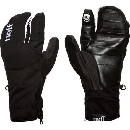 Skateboard Do you like the warmth of mittens but miss having a separate index finger with which to point and laugh at your friends when they eat it The Neff Lobster Mitten can help. - $41.97