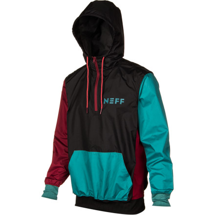 Skateboard Whether you're riding or just hanging out, the Neff Breaker Jacket has your back. The Breaker throws a new spin on the traditional hoodie with tough ripstop polyester fabric that won't absorb water and a water-repellant coating that keeps you dry in light rain or snow. - $44.96