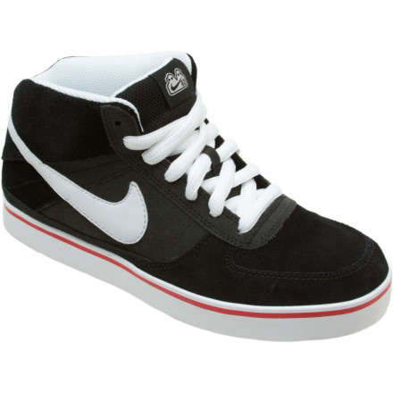 Skateboard Tear up the park with the Nike Boys 6.0 Mavrk Mid 2 Jr. Skate Shoe. These shoes ooze old-school Nike style, but the cushy collar and phylon midsole are long on newfangled support and comfort. A flexible, grippy sole guarantees superior board feel and maximum traction on slick surfaces. - $25.98