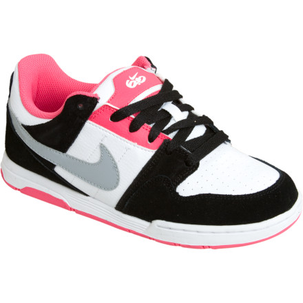 Skateboard The Nike 6.0 Mogan 2 Jr Skate Shoes get your little lady on the right track to showing up the boys at the skatepark. Zoom cushioning and sticky rubber outsoles offer skate-specific performance, while the color combos look clean enough to go almost anywhere. - $29.97