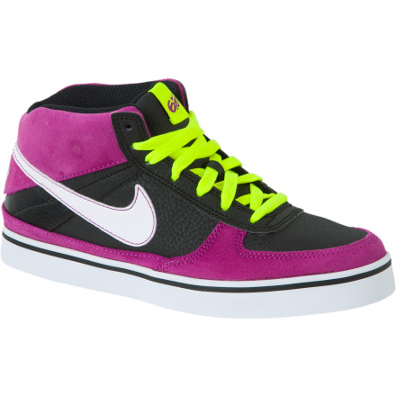 Skateboard Nike 6.0 designed the Mavrk Mid 2 Jr Skate Shoe to deliver support and comfort without unnecessary bulk. The raised cuff adds ankle stability while the slim shape and Sure-Fit tongue strap ensure a low-bulk, streamlined fit. - $24.98