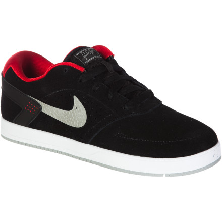 Skateboard Great minds think alike. The Nike Boys' Paul Rodriguez 6 Skate Shoe was constructed to spec from the innovative style and contest-winning performance of P-Rod to be a comfy and durable shoe that's ready for anything. As for the sturdy upper, Phylon midsole, and dialed fitthat came from the minds of Nike's innovative mad scientists. - $59.95