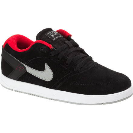 Skateboard Although developed for skateboarding, the Nike Little Boys' Paul Rodriguez 6 Skate Shoe is a much-sought-after sneaker among collectors and anyone just looking for a cozy kick with superior style. P-Rod definitely delivered in his sixth installment of his pro model with clean lines, the oh-so-comfortable Phylon midsole, and pronounced perforations on the side panel to keep feet from overheating. - $32.97
