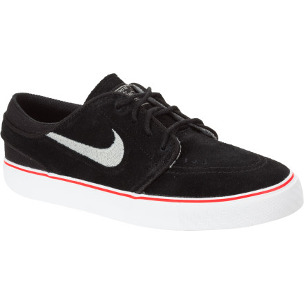 Skateboard Lace those small feet up with the big style of the Nike Little Boys' Stefan Janoski Skate Shoe. This low-pro, skate-style sneaker takes just as much joy in hooking little guys up with comfort and durability as the grown folk's version does. - $28.77