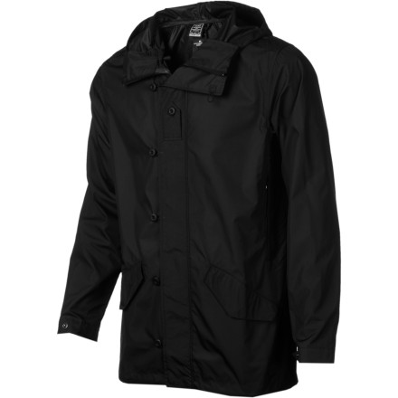 Ski Foul-weather has met its match. The Nike Division Fishtail Lightweight Packable Jacket goes hard in rain with its customizable fishtail hem and longer length. Adjustable tabs at cuffs and full-coverage scuba hood really allow you batten down the hatches when it get N-A-S-T-Y. - $79.96