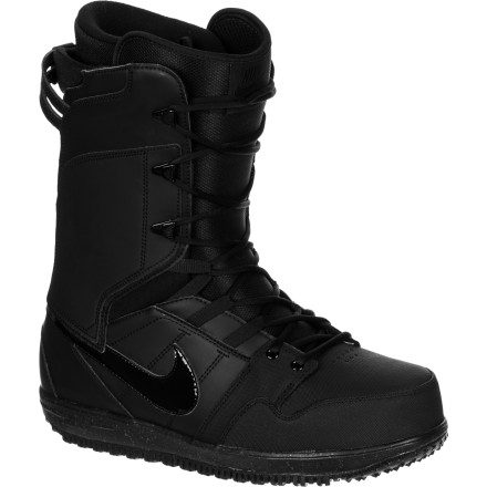 Snowboard Comfort meets function in the Nike Vapen Men's Snowboard Boot. It has a softer flex that's perfect for jibbing, with a neoprene Flex Notch for super-tweaked grabs and presses. Plus, the Phylon midsole with PU cushioning and heat-moldable liner with space blanket heating technology provides the comfort you expect from Nike. - $125.97