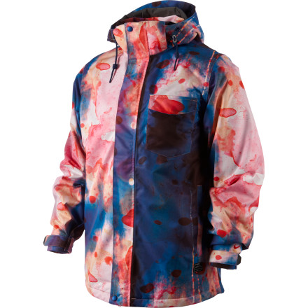 Snowboard Who said all-over prints were over The Nike Snowboarding Bellevue Print Jacket features a burnout tie-dye print for those seeking to add some more color to their kitrun 'em with solid-color pants, or pull out your favorite printed pair and watch everybody's heads explode in the lift line. Mountain worthy features like the Storm-FIT laminate and integrated media pocket keep you warm, dry, and in the zone. - $159.96