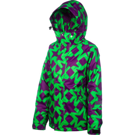 Snowboard Zip on the Nikita Women's Nordend Jacket and bring your party to the slopes. Firecracker that you are, you can't resist the bright, poppy Nikita graphics of this snowboarding jacket; under that funand weather-resistantshell the Nordend is packing a layer of insulation to trap all that heat you're generating and keep the party rolling. - $89.53