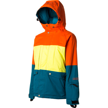 Snowboard Rule the resort like the princess you are in your Nikita Women's Monarch Jacket. This warm insulated jacket will keep you toasty even when the temperature dips below freezing, and the bold color blocking shows off your stylishly daring fashion sense. - $79.58