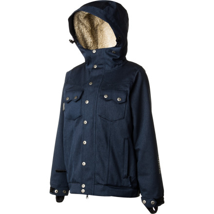 Snowboard The Nikita Women's Mayon Jacket lets you rock the cool look of denim without suffering through the soggy feeling an actual denim jacket would give you if it got wet. You get the look you want, and you'll stay dry and warm while you ride. - $107.53