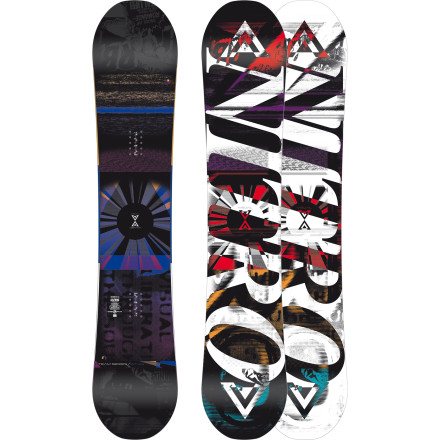 Snowboard Built for big-footed freestyle riders who want the looseness and float of rocker without sacrificing camber's pop and edge control, the Nitro Team Series Gullwing Wide Snowboard is ready to dominate anywhere from steep backcountry spines to sunny park lines. Gullwing combines the best properties of both rocker and camber to deliver a super-fun ride that's both forgiving and controllable. The 2013 model features a slightly tweaked profile with a little less rocker  than previous Gullwing designs for improved high-speed stability in all conditions. - $287.97