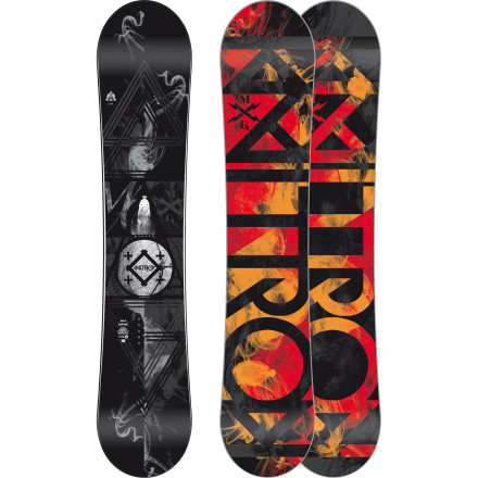 Snowboard With a grippy standard camber profile, responsive flex, and fast base, the Nitro Magnum Snowboard is built for big dudes who ride fast. The extra-wide shape accommodates even the most behemoth of boots, while a progressive sidecut makes your turns easy to initiate and offers rocket-powered turn exits. - $287.97