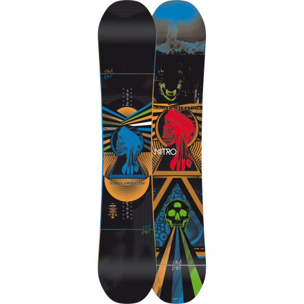 Snowboard Markus Keller's vehicle of choice for high-powered backcountry freestyle moves, the Nitro Thief Snowboard features a snappy flex, stable camber profile, and directional twin shape that floats on top of the deep stuff without feeling twitchy on park jumps. - $299.97