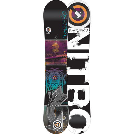 Snowboard The Nitro Sub Zero Snowboard is back with an all-new camber profile and core technology designed to help you get loose from the park to the streets. The dual degressive sidecut cuts down on those surprise edge catches while winding up for a spin, while Railkiller edges give you the durability you need to throw down without worry. - $251.97