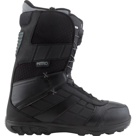 Snowboard Nitro's Reverb TLS Snowboard Boot offers a solid fit and a cushy, comfy flex that's still supportive enough to handle some speed. TLS speed lacing and an anatomically-correct liner get you on the hill faster and in more comfort than you'd think possible for a boot in this price range. - $119.97