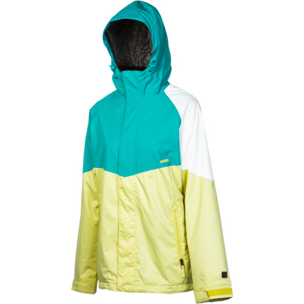 Snowboard The Nitro Limelight Jacket catches the eye with its bold color-blocked style and flattering lines, and keeps you warm and dry thanks to its 8K laminate and midweight full-body insulation. - $89.98