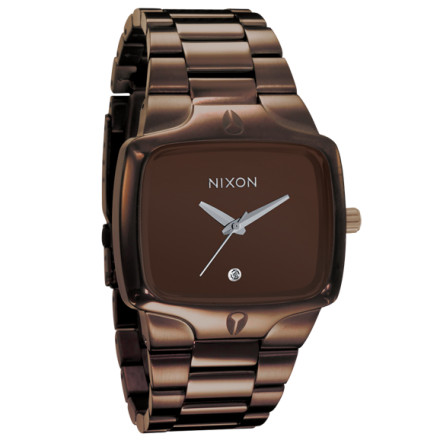 "Entertainment The Nixon Men's Player Watch is the OG of the now infamous Player series. Get the watch that's keepin' the players playin' and the haters down. Like all great players, this watch is smooth and subtle with just enough bling to catch her eye. The solid stainless steel band and smooth metal case on the Player combine with a real diamond for a look that's pure class. When you say ""Baby, I'll be right back,"" she'll believe you. Nixon's three-hand Japanese quartz movement keeps you running precisely two hours late, which if you're a true player, is right on time. *All-Black version comes with black titanium carbide finish. *Available for US shipment only. - $115.95"