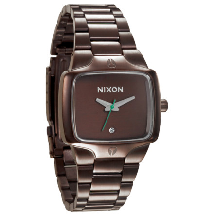 Entertainment Play your games in style and on time with the Nixon Women's Small Player Watch. With a real diamond that makes this precious watch a new best friend, and a two-tone stainless steel band to prove that you have more style than the mean girls on your block, the Nixon Small Player Watch can stand the envy. - $117.95