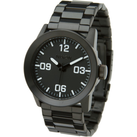 Entertainment When a promotion is on the way and you want to plan ahead, get yourself the Nixon Men's Private SS Watch. The stainless steel band and raised bezel symbolizes your rise in status, while a classic face with smooth quartz movement proves that you're not the pretentious type trying to overcompensate for a small jock strap. - $97.95