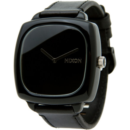 Entertainment Regardless of your apartments carpet color, the paparazzi flashes still blind you when you wear the Nixon Womens Shutter Watch. With a style that makes champagne rain from the sky, this water-resistant watch tells you the time, but tells everyone else you only have time for VIPs. Tastefully sleek Japanese quartz hands, a hardened mineral crystal dome, and a full grain leather band drop the velvety ropes wherever your entourage decides to pay a visit. - $81.22