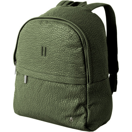 Camp and Hike Your old backpack from grade school served its purpose, so let it go and get the Nixon Women's Get Back Pack to add a bit of class to your school or work commute. The faux leather adds some detail that your holey canvas pack just doesn't have anymore, and with the front pocket and internal organization, you can keep all your grown-up things safe and secure while you travel to a real job. - $48.97