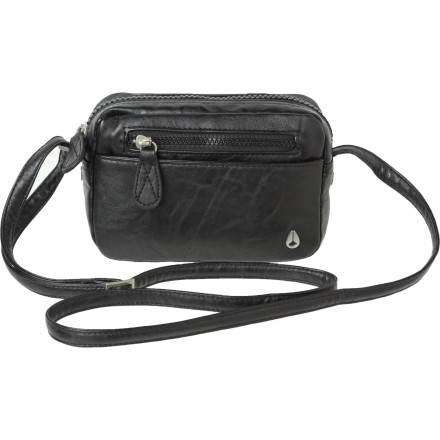 Entertainment The Nixon Backstage Crossbody Purse throws out a hip, vintage style that keeps you looking good whether you are headed to a posh dinner or headed out with the girls. - $34.97