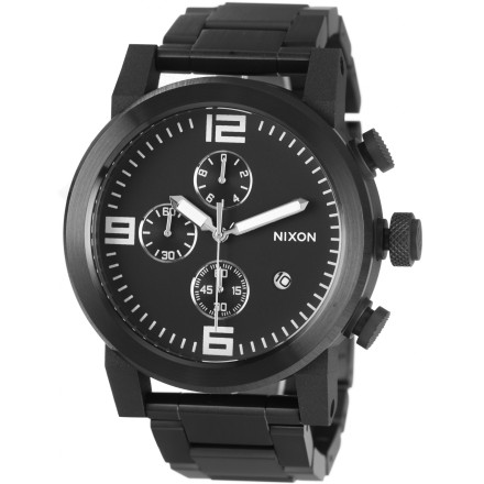 Entertainment Like an oil tanker crossed with a cruise liner, the Nixon Ride SS Watch combines bomber durability and refined luxury. Big, bold styling in classic colors makes a statement without resorting to flashy gimmicks. - $355.95