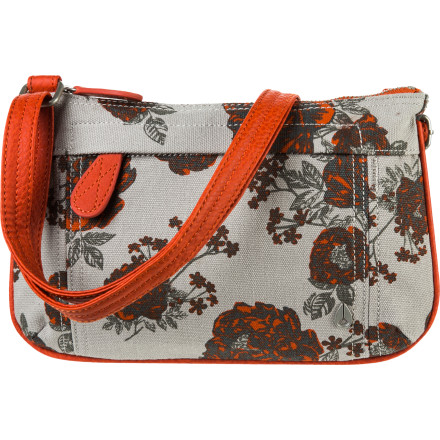 Entertainment Keep it simple with the Nixon Fleet Cross Body Purse. It has a zippered main compartment to keep your goods safe, with a phone/passport pocket to help you stay organized. The elegant floral print adds a touch of color without being too loud. - $34.97
