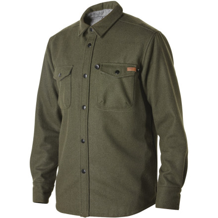 Enlist some girls' phone numbers while wearing the Nixon Corporal Men's Jacket. Shirt-styling gives it a simple, classy look and the wool blend fabric will keep you warm on chilly evenings. - $99.95