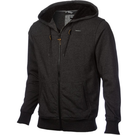 The Nixon Fineline Men's Full-Zip Hoodie is made from a plush french terry fleece that is comfy and warm, whether you're walking to class or nursing a hangover on your couch. - $62.97