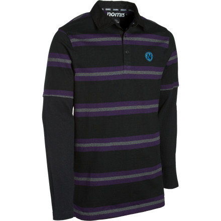 The Nomis Waffle Rugby Shirt's two-in-one design gives you the layered-up look you want with less bulk to harsh your mellow. Sure to impress the elderly and your slower friends. - $26.23
