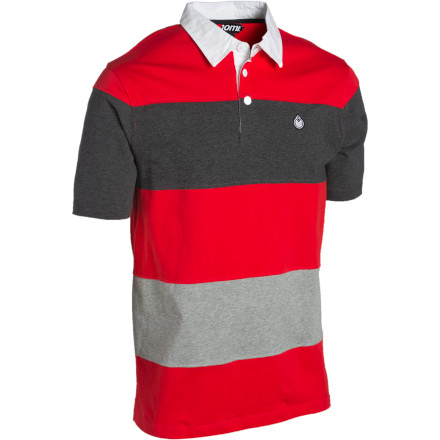 The Nomis Cut and Sew Polo Shirt features a fresh color-blocked stripe pattern and a custom tall fit that looks good both on and off the hill. - $32.97
