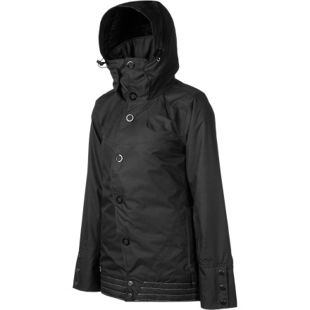 Snowboard With a storm-stopping waterproof laminate, lightweight insulation, and a sophisticated, stylish fit, the Nomis Astoria Long Jacket is ready for all-season shredding. The asymmetrical front closure and long cut keep you looking good from cruiser laps to a night out on the town. - $103.98
