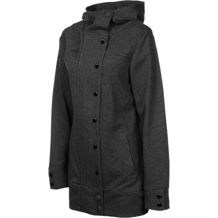 Get subtle sophistication normally reserved for expensive European labels with the Nomis Subtle Women's Hooded Peacoat. It has a long cut for a sleek, modern look and button closures for a fancy touch without the flash. - $63.96