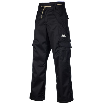 Snowboard The Nomis Boys' Cargo Pants keep your kid warm and dry on all-day snowboarding weekends when he's lapping the park and bombing groomers with his buddies. These bottoms dish out a casual look and well-rounded protection from winter weather. - $41.98