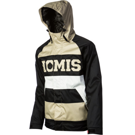 Snowboard If you're not down with the drab colors and want a kit that pops, the Nomis Foundation Tony Insulated Jacket's bold color-blocking and block-letter logo treatment will help you stand out in a sea of flannels and black hoodies. - $109.98