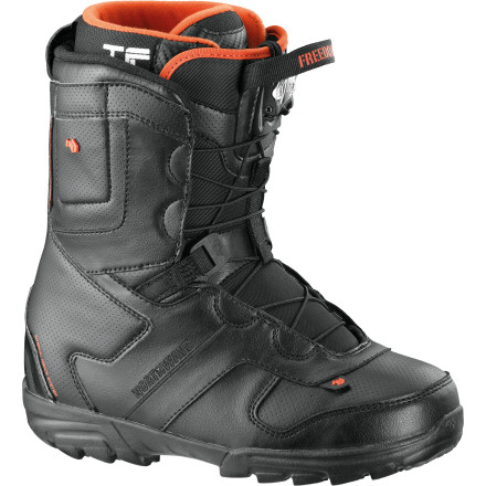 Snowboard Take it from the rail line to the big jumps in total comfort in the Northwave Freedom SL Men's Snowboard Boot. This mid-flexing boot has a heel retention system to keep your foot locked in place so you have total control over your board, and the Hypershock sole is lightweight so you don't get weighed down. - $95.97