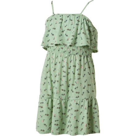 Entertainment Good luck getting her to stop twirling when she's in the O'Neill Girls' Tallulah Dress. The ruffled bottom and smocked body give her a free-flowing feel that will make her want to dance. - $11.84